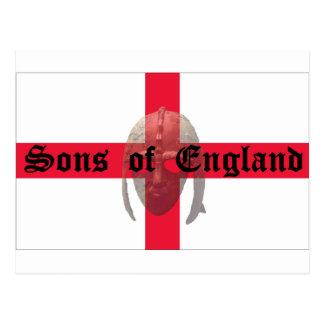 Hijos del casco del sajón del texto de Inglaterra Postal