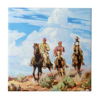Hijos del desierto azulejo cuadrado pequeño