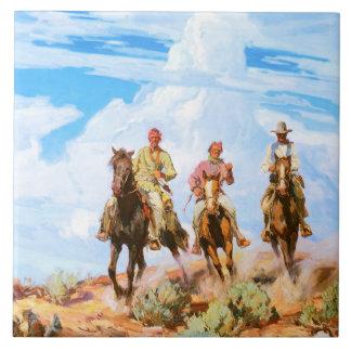 Hijos del desierto - baldosa cerámica grande teja  ceramica