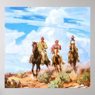Hijos del desierto, por Carl Óscar Borg Póster
