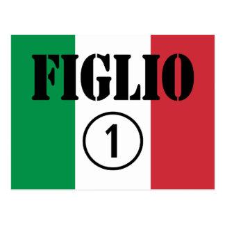 Hijos italianos: Uno de Figlio Numero Tarjetas Postales