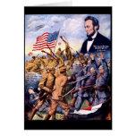 Hijos verdaderos de Abraham Lincoln de la libertad Tarjetas