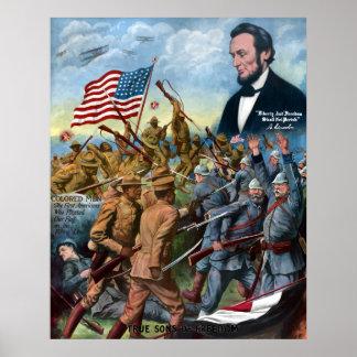 Hijos verdaderos de la libertad -- WWI Poster