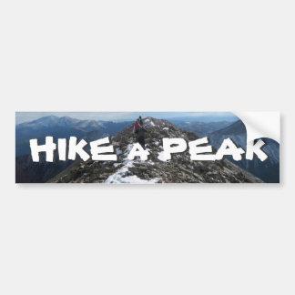 Hike a Peak Car Bumper Sticker