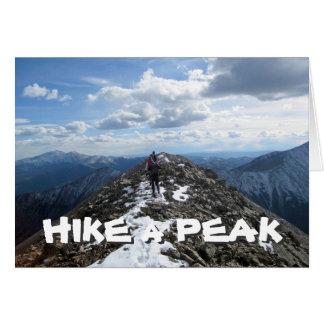 Hike a Peak Card