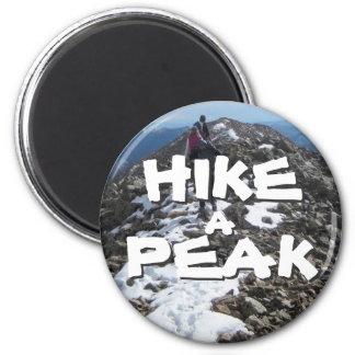 Hike a Peak Fridge Magnet