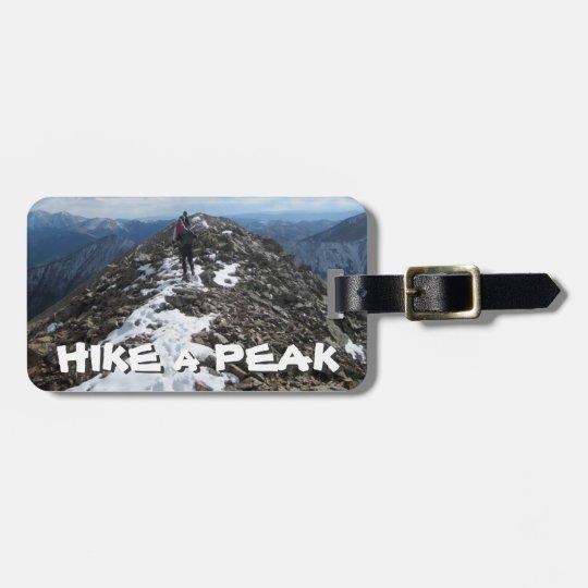 Hike a Peak Luggage Tag