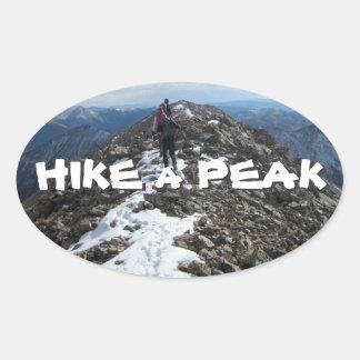 Hike a Peak Oval Stickers