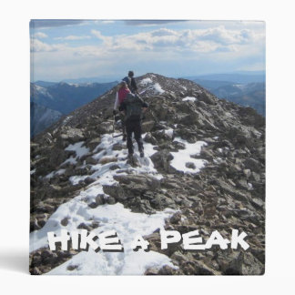 Hike a Peak Vinyl Binder