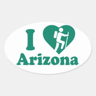 Hike Arizona Oval Sticker