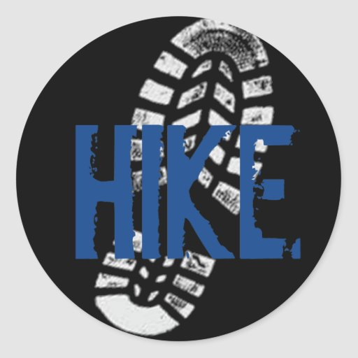Hike Bootprint Stickers