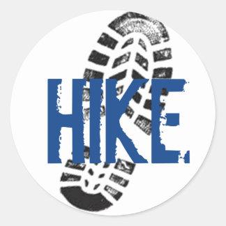 Hike Bootprint Classic Round Sticker
