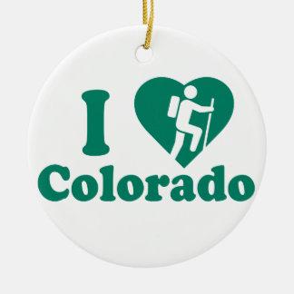 Hike Colorado Ceramic Ornament