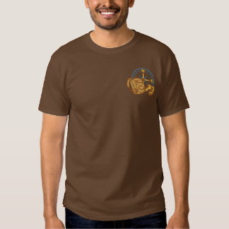 Hike Compass & Gear Embroidered T-Shirt