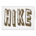 Hike, Hiker, Hiking Cards