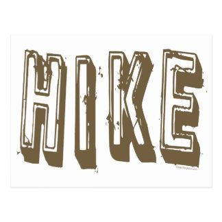 Hike, Hiker, Hiking Postcard