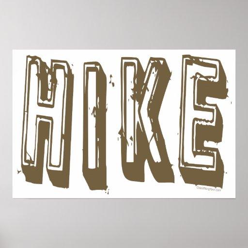 Hike, Hiker, Hiking Posters