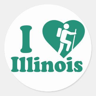 Hike Illinois Classic Round Sticker