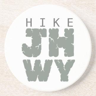 Hike Jackson hole Drink Coaster