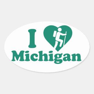 Hike Michigan Oval Sticker