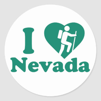 Hike Nevada Classic Round Sticker