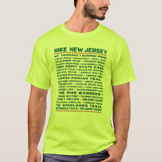 Hike New Jersey (Trails) - Safety Green T-Shirt