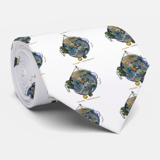 Hike Our Planet Hiker's Soul Compass Earth Neck Tie