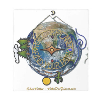 Hike Our Planet Hiker's Soul Compass Earth Notepad