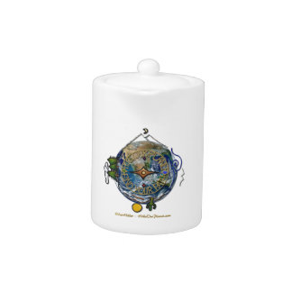 Hike Our Planet Hiker's Soul Compass Earth Teapot
