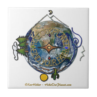 Hike Our Planet Hiker's Soul Compass Earth Tile