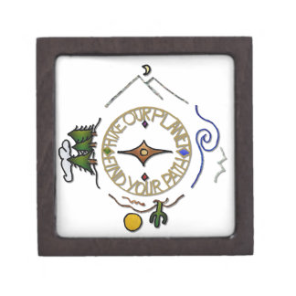 Hike Our Planet Hiker's Soul Compass Jewelry Box