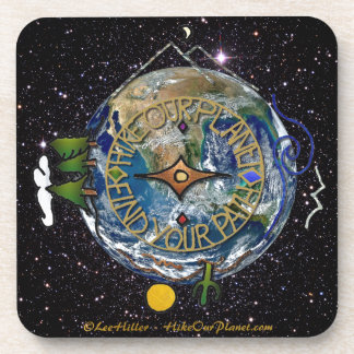 Hike Our Planet Hiker's Soul Compass Space Drink Coaster