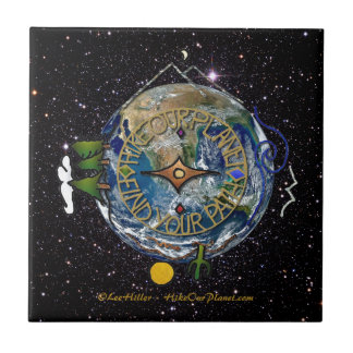 Hike Our Planet Hiker's Soul Compass Space Tile