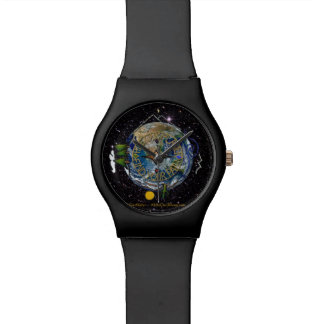 Hike Our Planet Hiker's Soul Compass Space Wrist Watch