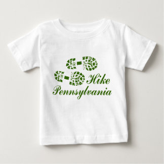 Hike PA Boots, Frilly Text Baby T-Shirt
