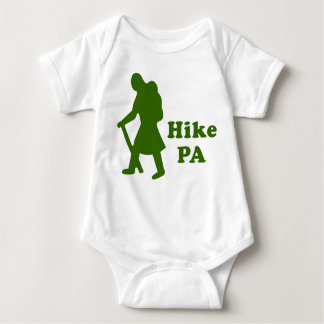 Hike PA Girl - Dark Green Baby Bodysuit