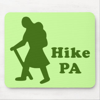 Hike PA Girl - Dark Green Mouse Pad