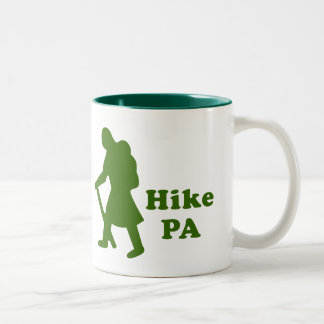 Hike PA Girl - Dark Green Two-Tone Coffee Mug