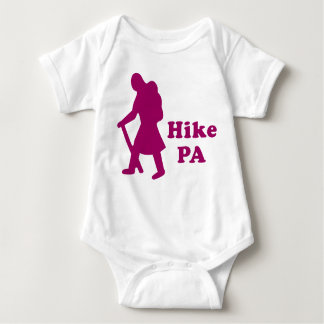 Hike PA Girl - Dark Pink Baby Bodysuit