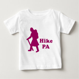 Hike PA Girl - Dark Pink Baby T-Shirt