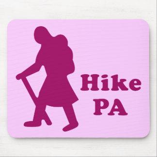 Hike PA Girl - Dark Pink Mouse Pad
