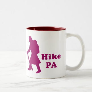 Hike PA Girl - Dark Pink Two-Tone Coffee Mug