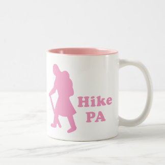 Hike PA Girl - Light Pink Two-Tone Coffee Mug