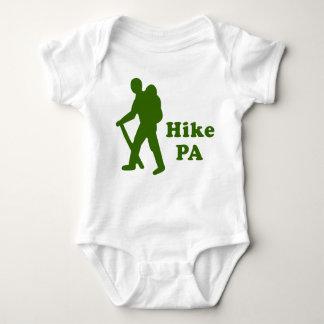 Hike PA Guy, Dark Green Baby Bodysuit