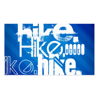 Hike; Royal Blue Stripes Double-Sided Standard Business Cards (Pack Of 100)