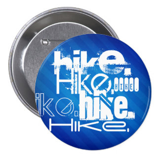 Hike; Royal Blue Stripes 3 Inch Round Button