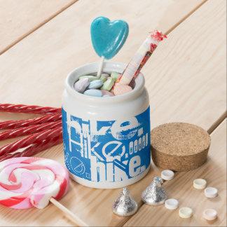 Hike; Royal Blue Stripes Candy Jar