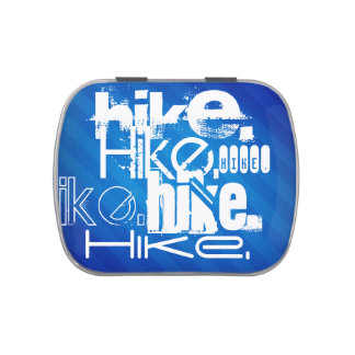 Hike; Royal Blue Stripes Candy Tin