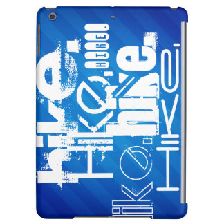 Hike; Royal Blue Stripes iPad Air Cases