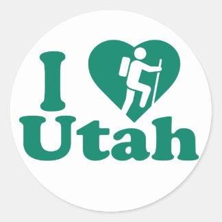 Hike Utah Classic Round Sticker